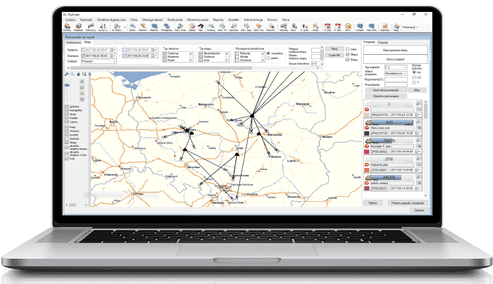Routing supports the optimization of logistics processes
